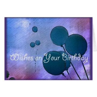 L'anniversaire souhaite la carte de voeux