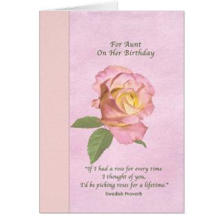 L'anniversaire, tante, paix s'est levé carte de vœux