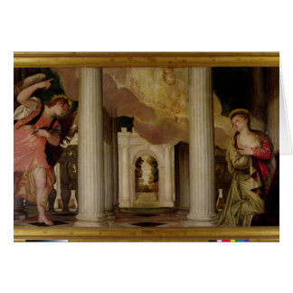 L'annonce, c.1551-53 (huile sur la toile) carte de vœux