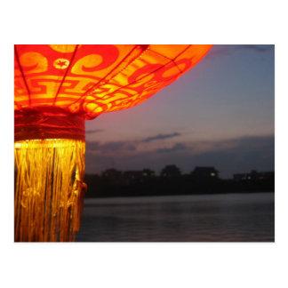 Lanterne de Lakeside Carte Postale