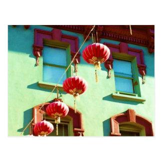 Lanternes chinoises dans Chinatown Carte Postale