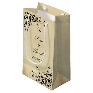 L'antiquité élégante tourbillonne mariage petit sac cadeau