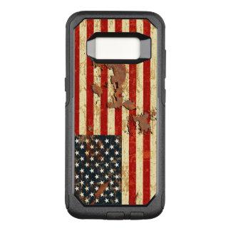 L'antiquité s'est rouillée le drapeau américain coque samsung galaxy s8 par OtterBox commuter