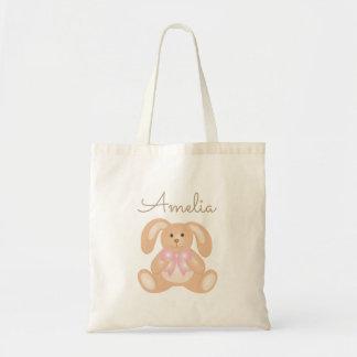 Lapin adorable doux Girly mignon de bébé Tote Bag
