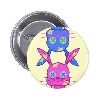 Lapin Badge Rond 5 Cm
