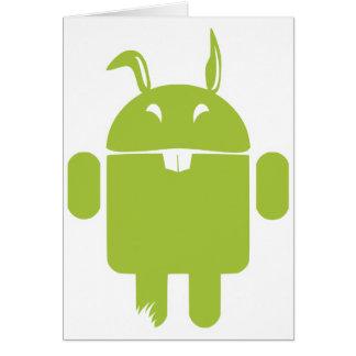 Lapin de Pâques androïde Carte De Vœux