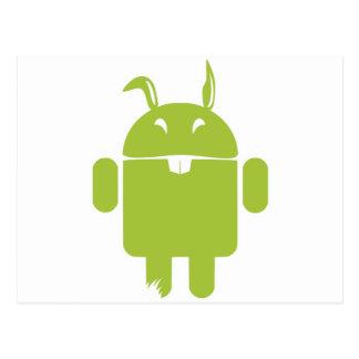 Lapin de Pâques androïde Carte Postale