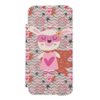 Lapin de super héros de fille coque-portefeuille iPhone 5 incipio watson™