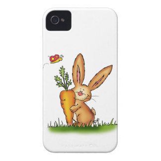 Lapin mignon avec la carotte par Gerda Coques Case-Mate iPhone 4