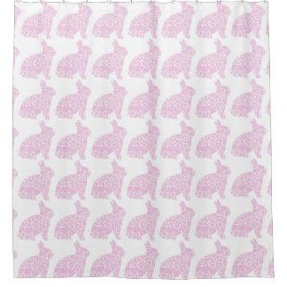 Lapin rose rideaux de douche
