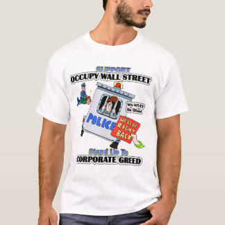 L'APPUI OCCUPENT LE T-SHIRT DE WALL STREET