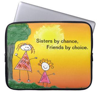 Laptop de Zusters van Sleeves toevallig, Vrienden