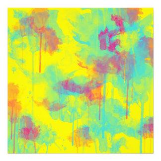 L'aquarelle abstraite d'été éclabousse la copie de photographes