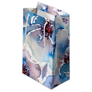 L'aquarelle Boho floral bleu fait varier le pas du Petit Sac Cadeau