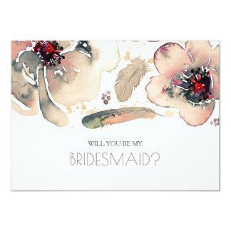 L'aquarelle ene ivoire Fleur-vous serez ma Carton D'invitation 11,43 Cm X 15,87 Cm