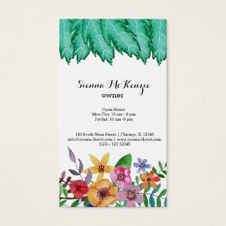 L'aquarelle fleurit le bouquet cartes de visite