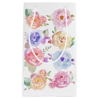 L'aquarelle fleurit le sac de cadeau