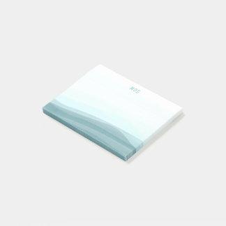 L'aquarelle pâle d'Aqua ondule les notes collantes