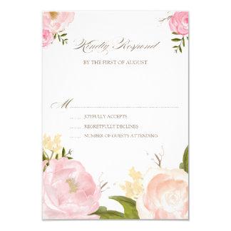 L'aquarelle romantique fleurit épousant la carte carton d'invitation 8,89 cm x 12,70 cm