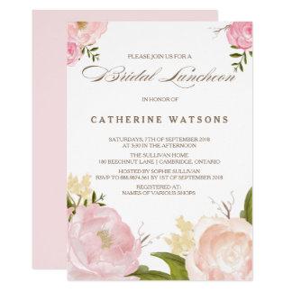 L'aquarelle romantique fleurit l'invitation carton d'invitation  12,7 cm x 17,78 cm