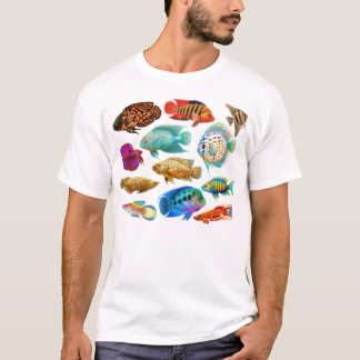 L'aquarium d'eau douce pêche le T-shirt