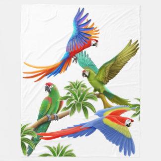 L'ara tropical Parrots la couverture d'ouatine