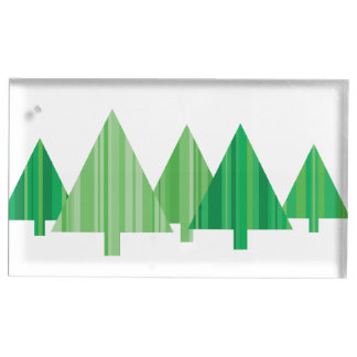 L'arbre barre le support de Placecard de Noël Porte-carte De Table