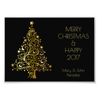 L'arbre décoratif de Joyeux Noël tient le premier Impression Photo