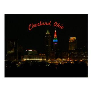 L'arc-en-ciel allume la carte postale de Cleveland