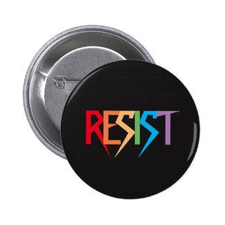 L'arc-en-ciel coloré résistent au bouton badge rond 5 cm