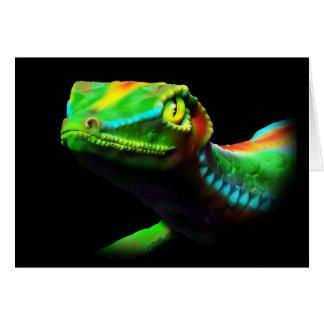 L'arc-en-ciel de lézard de Gecko colore des cartes
