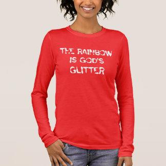 L'arc-en-ciel est la chemise du V-Cou détendue par T-shirt À Manches Longues