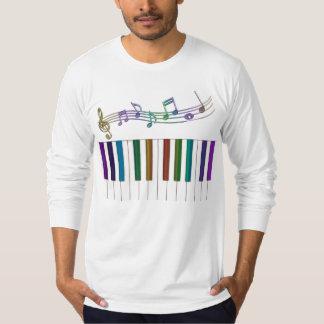 L'arc-en-ciel psychédélique verrouille le T-shirt
