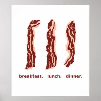 Lard pour le petit déjeuner, le déjeuner, et