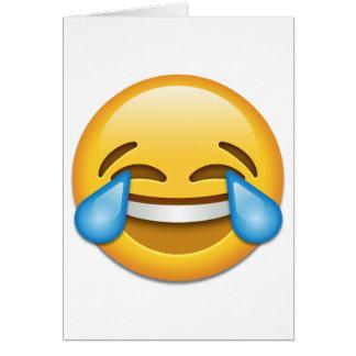 Larmes d'emoji de joie drôles carte