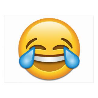 Larmes d'emoji de joie drôles cartes postales