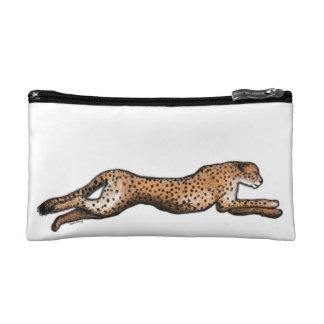 L'art courant de guépard composent le sac trousse de toilette
