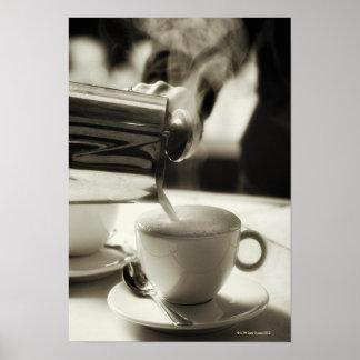 L'art d'à café frais/de s'ajouter cuits à la vapeu