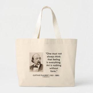 L'art de Gustave Flaubert n'est rien sans citation Sac En Toile Jumbo