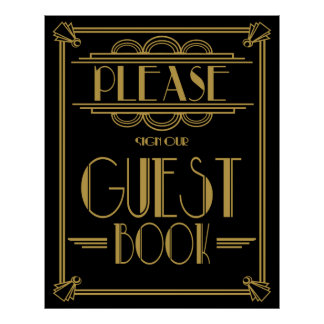 """L'art déco Gatsby """"copie signent svp notre livre"""