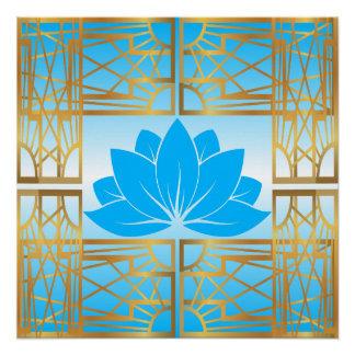 L'Art déco Retro Lotus (sky blue)