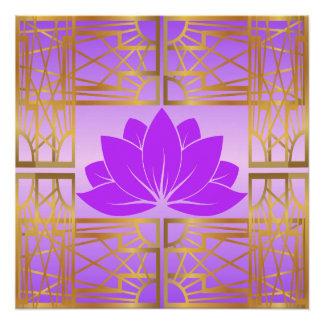 L'Art déco Retro Lotus (violet)