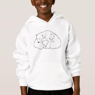 L'art d'ours blanc badine le sweat - shirt à
