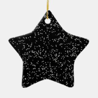 L'art noir et blanc frais de fractale modèle ornement étoile en céramique