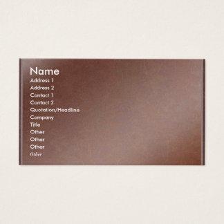 L'artiste a créé la feuille de cuivre faite main cartes de visite