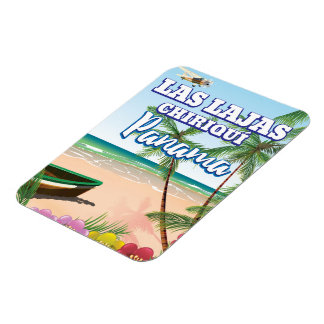 Las Lajas, affiche de voyage de plage de Chiriquí Magnet Flexible