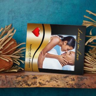 Las Vegas chanceux en photo de mariage d'amour Photo Sur Plaque