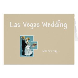 Las Vegas épousant, avec ces anneau, jeune mariée Carte De Vœux