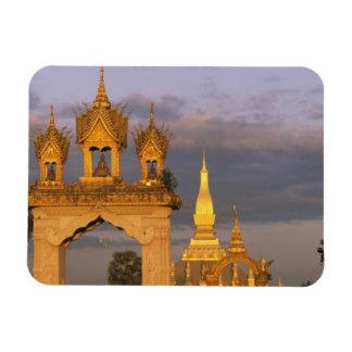 L'Asie, les Laotiens, Vientiane. Ce temple de Luan Magnets En Vinyle