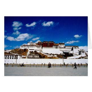 L'Asie, Thibet, Lhasa, le Palais du Potala. UNECSO Carte